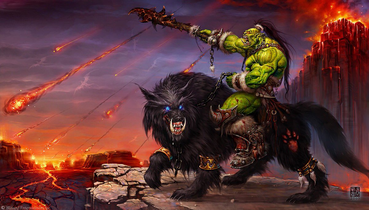 Wei Wang On Twitter My First World Of Warcraft Painting Orc