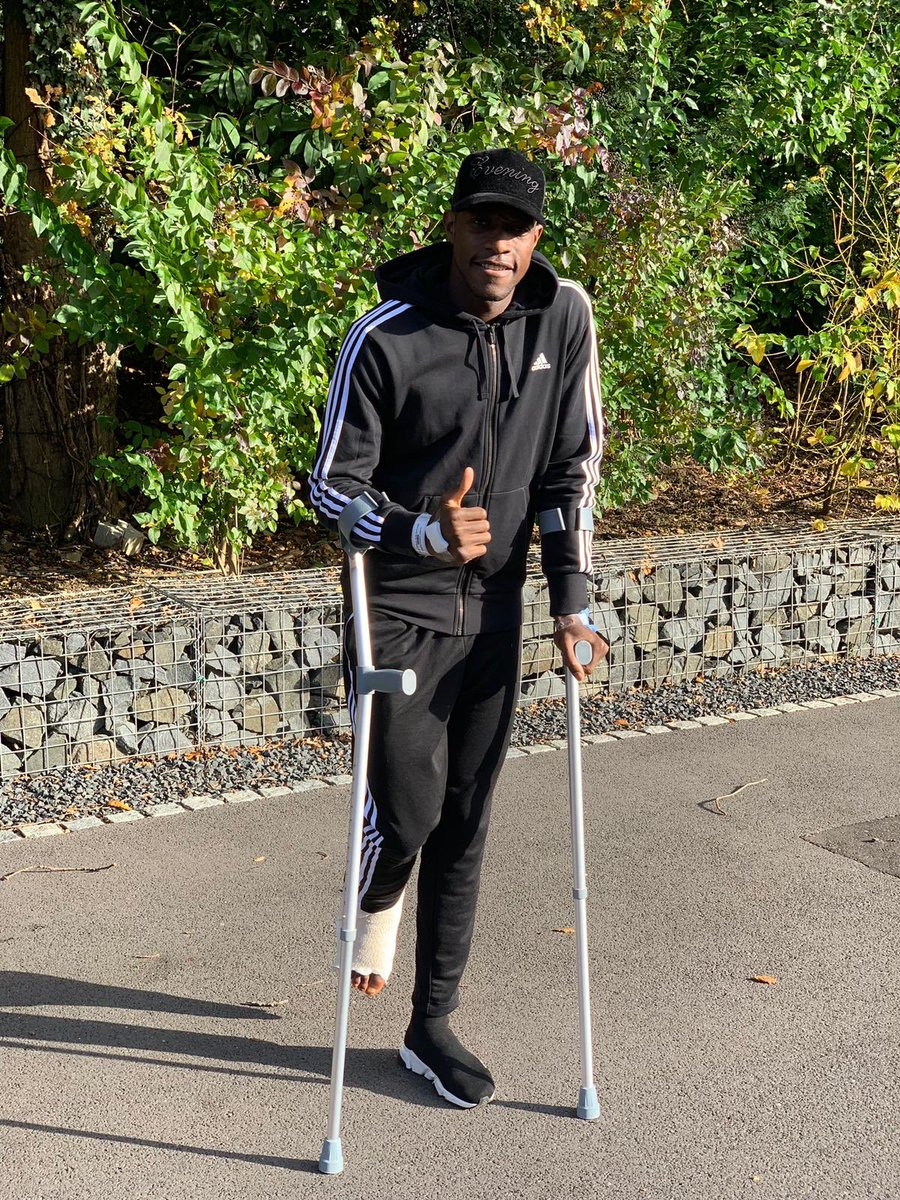 Back home... Thanks for all the love and support. No doubt I will be back stronger than ever before. Recovery grind starts now 🙏🏿❤💪🏿