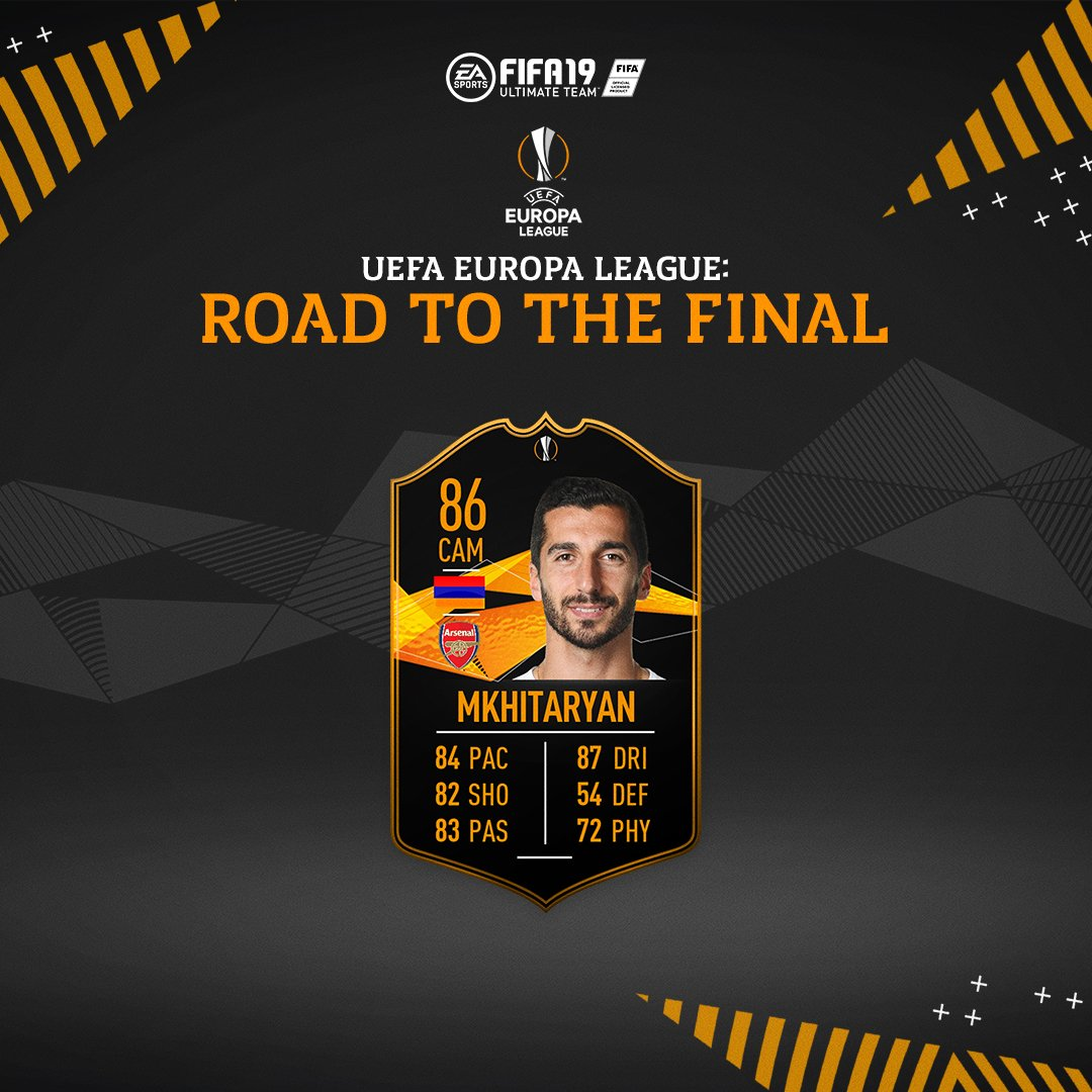 Europa League Road To The Final Henrikh Mkhitaryan SBC is now available #FUT #FIFA19