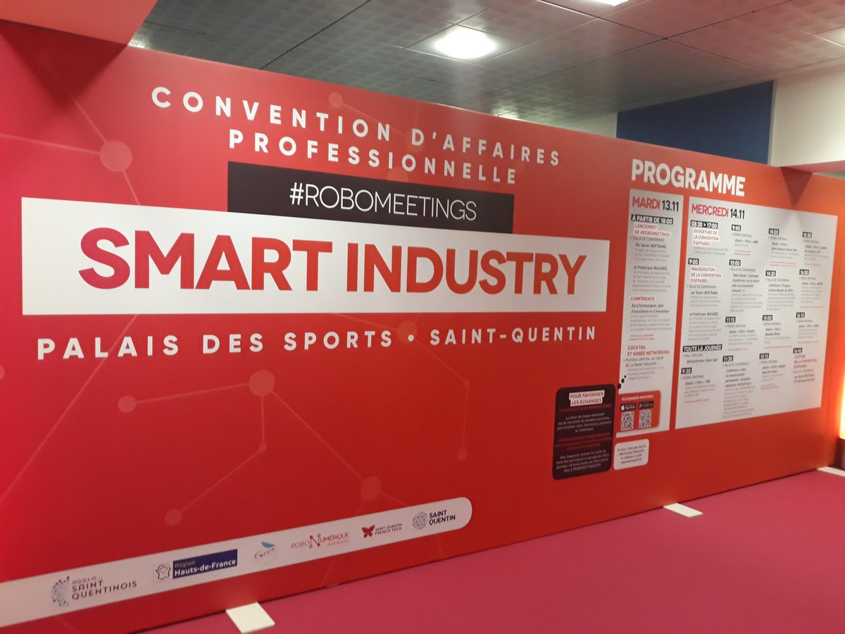 A demain pour la convention d'affaires Smart Industry #robomeetings2018 ! 🤖#robonumerique #robotique #numerique #convention #AggloSaintQuentinois https://t.co/rpTASVgpLh