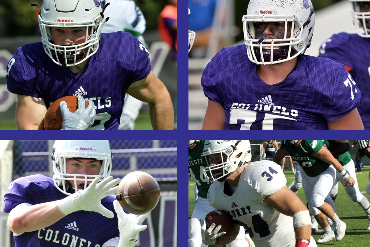 NEWS | Four from @CurryFootball Honored by @CCC_SportsFB  FULL STORY → https://bit.ly/2T9xixx  #GoColonels #BleedPurple #CCCFB #d3fb