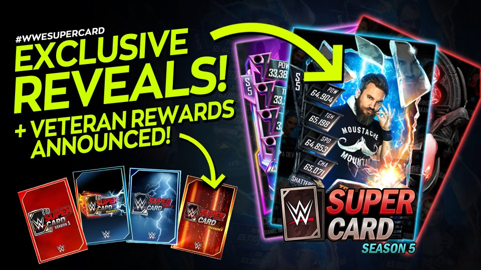 Calling all #WWESuperCard players! Season 5 begins TOMORROW and weve got 3 Exclusive Cards to reveal! + Details of the Season 5 Veteran Rewards and free content you can receive! 👉 youtube.com/watch?v=HkHpgM… #WWESuperCard @WWEgames