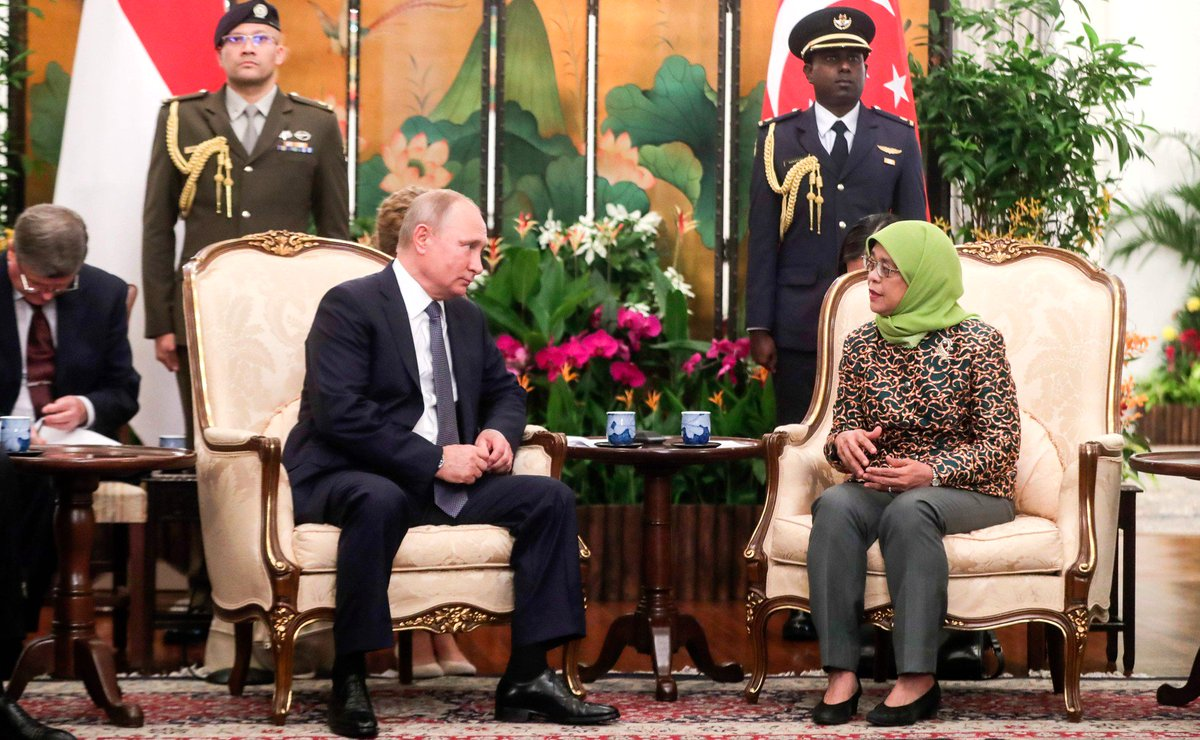 Russia In India On Twitter On November 13 Russian President Vladimir Putin Had A Meeting With President Of Singapore Halimah Yacob Https T Co Fyigi4qdti Kremlinrussia E Mfa Russia Meaindia Indiandiplomacy Indembmoscow Https T Co