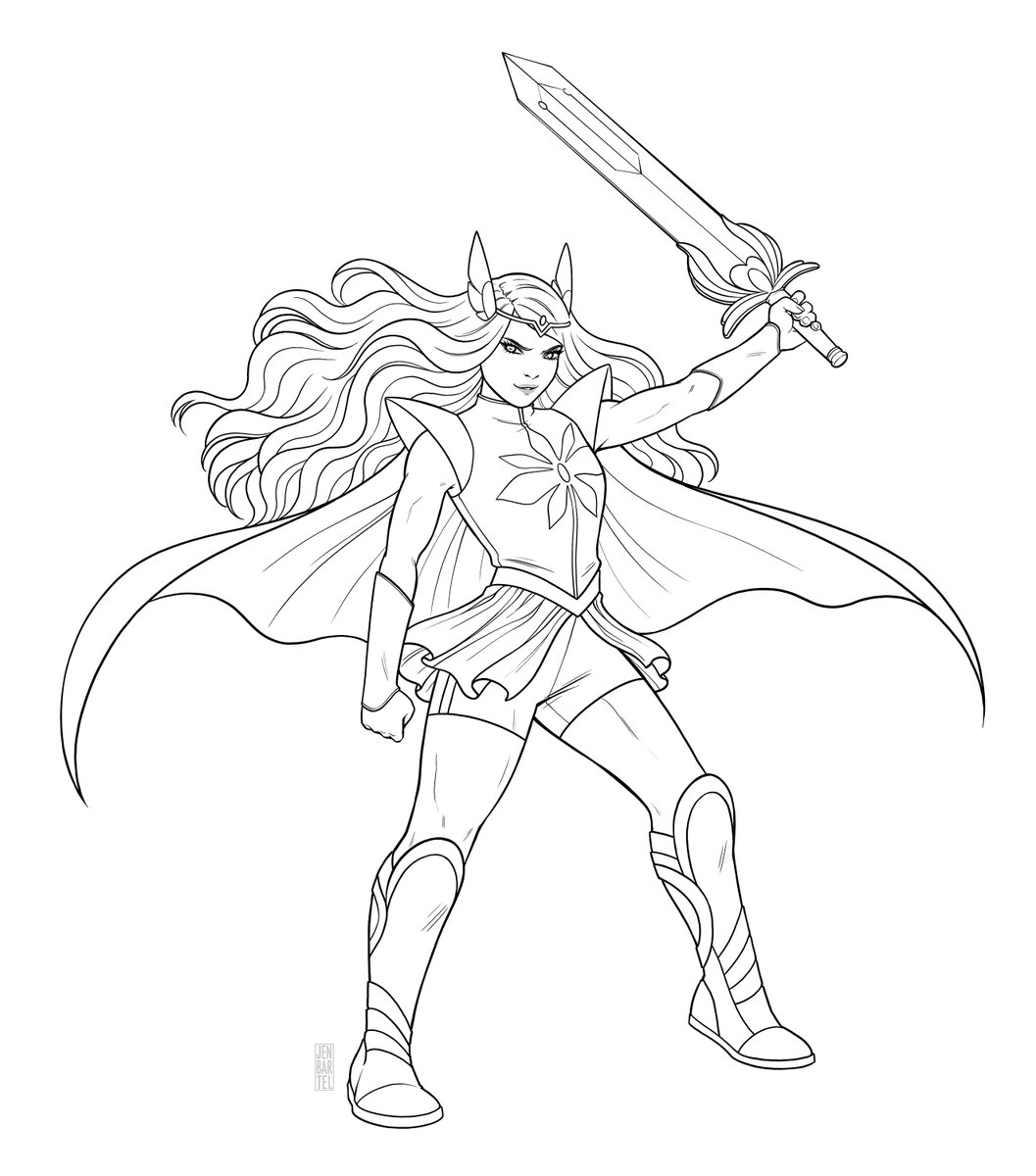 Netflix She Ra Coloring Pages - Coloring wall