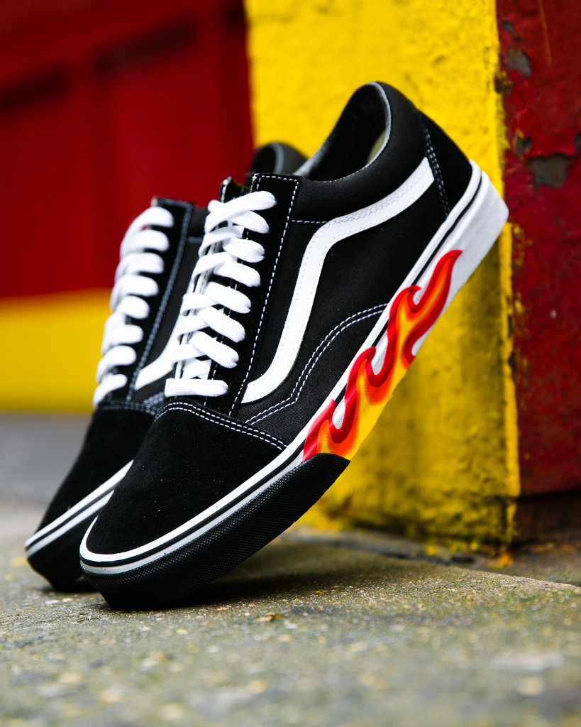fire emoji vans old skool flame cut out available now in store and online bd6b982a8