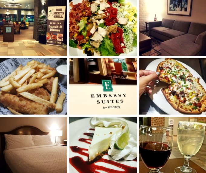 #TravelTuesday Reasons to stay at @EmbassySuites International Drive/Convention Center when you #travel to Orlando: ✔Two-Room Newly Renovated Suites ✔Complimentary Drinks/Snacks at Evening Reception ✔Free Made To Order Breakfast ✔Onsite Full Service Dining at Bar Meets Grill Photo