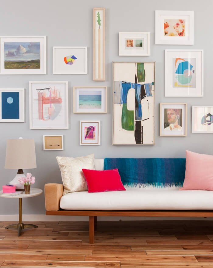 Creating a gallery wall? Start with one large piece, then add frames of varying dimensions. Tip: It may help to sketch it out on paper first! https://goo.gl/mkZLkq