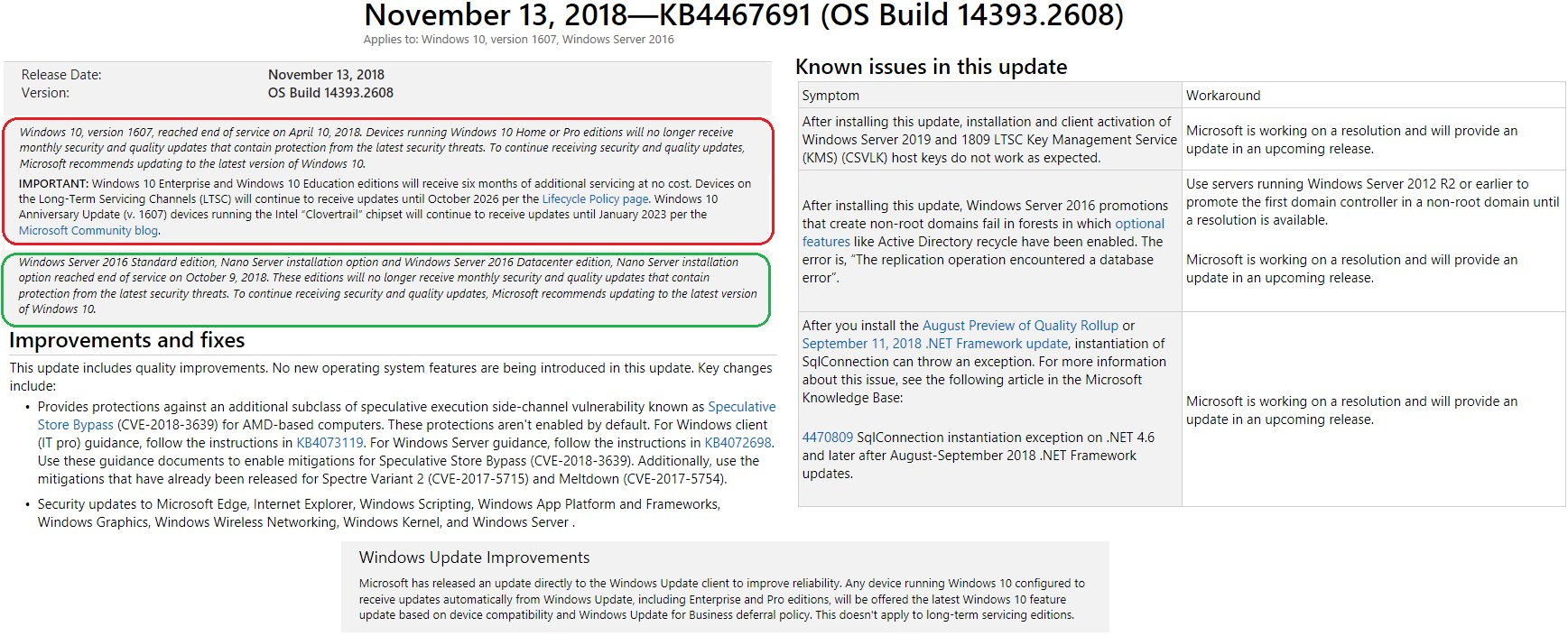 AIO ⁓ All Of The Latest Windows Update Problems September 2018