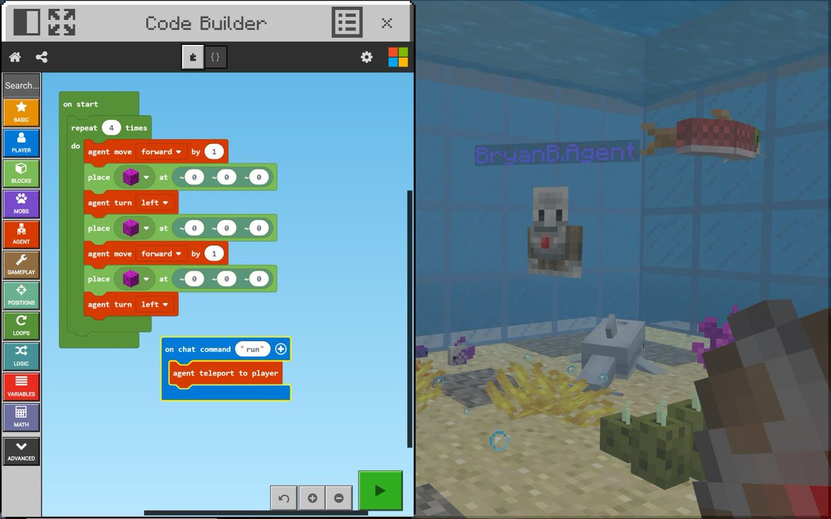 Minecraft: Education Edition on Twitter: The Code Builder Update
