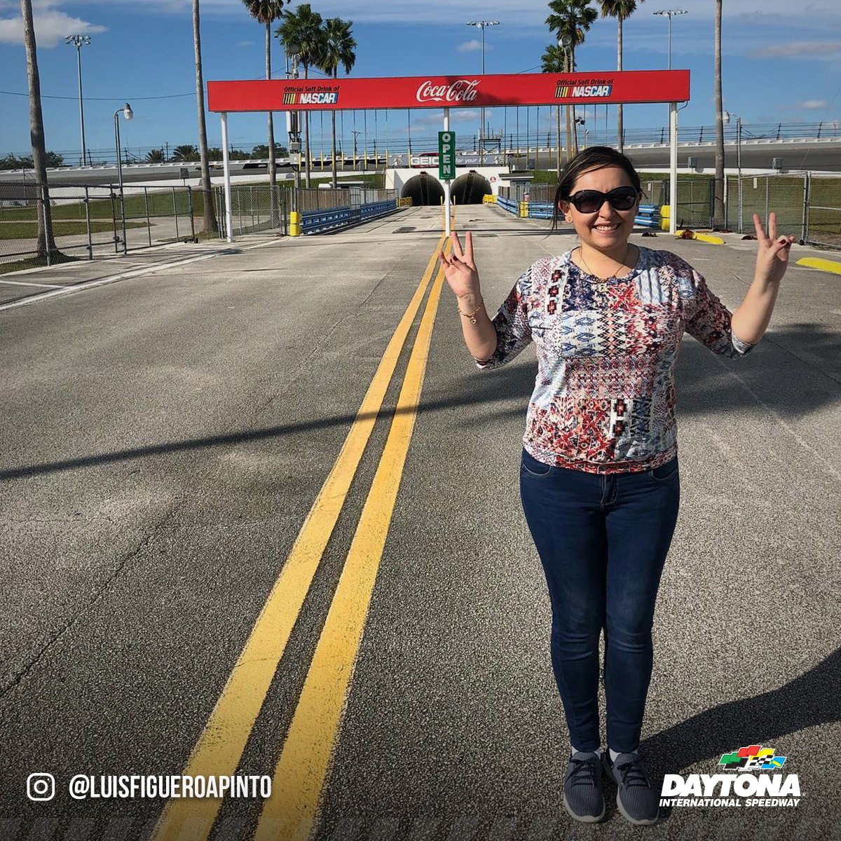 It's always all smiles when you're at DAYTONA!  #FanFriday