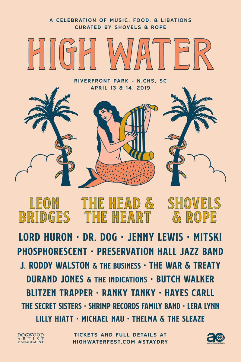 LH will play the High Water Festival in Charleston, SC next April. Get yer tickets here: on.highwaterfest.com/trk/vjd
