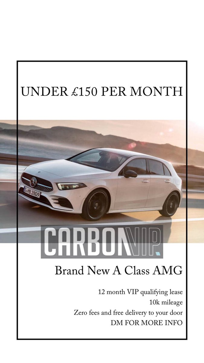 Carbon Vip On Twitter Vip Offer Brand New A180d Amg Line
