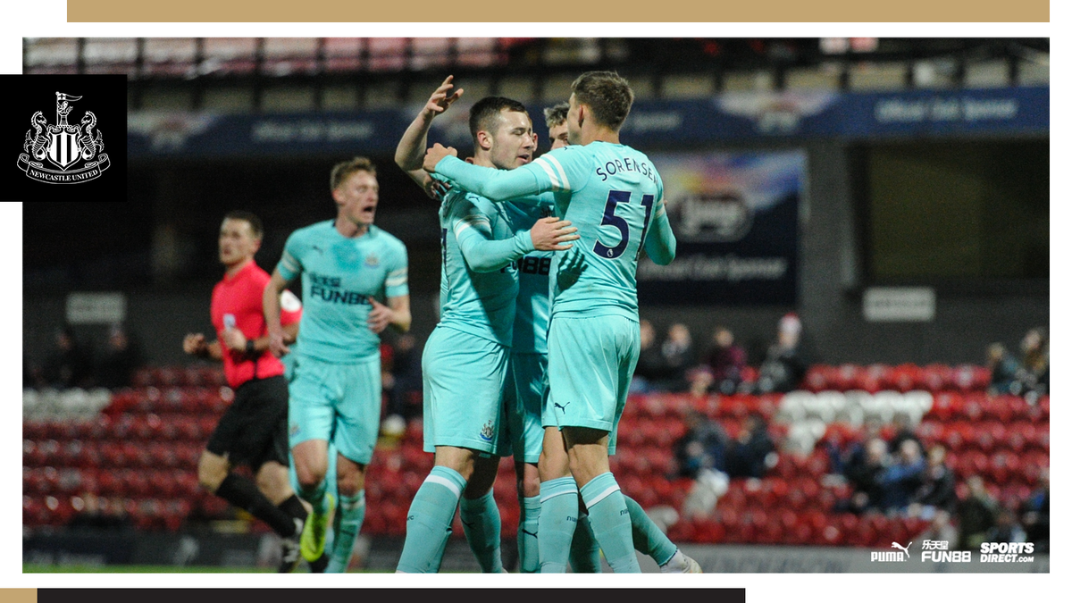 FULL TIME - Grimsby Town 2 Newcastle United Under-21s 3. The Magpies youngsters qualify for the Second Round of the @CheckatradeTrpy after three group wins out of three! #NUFC