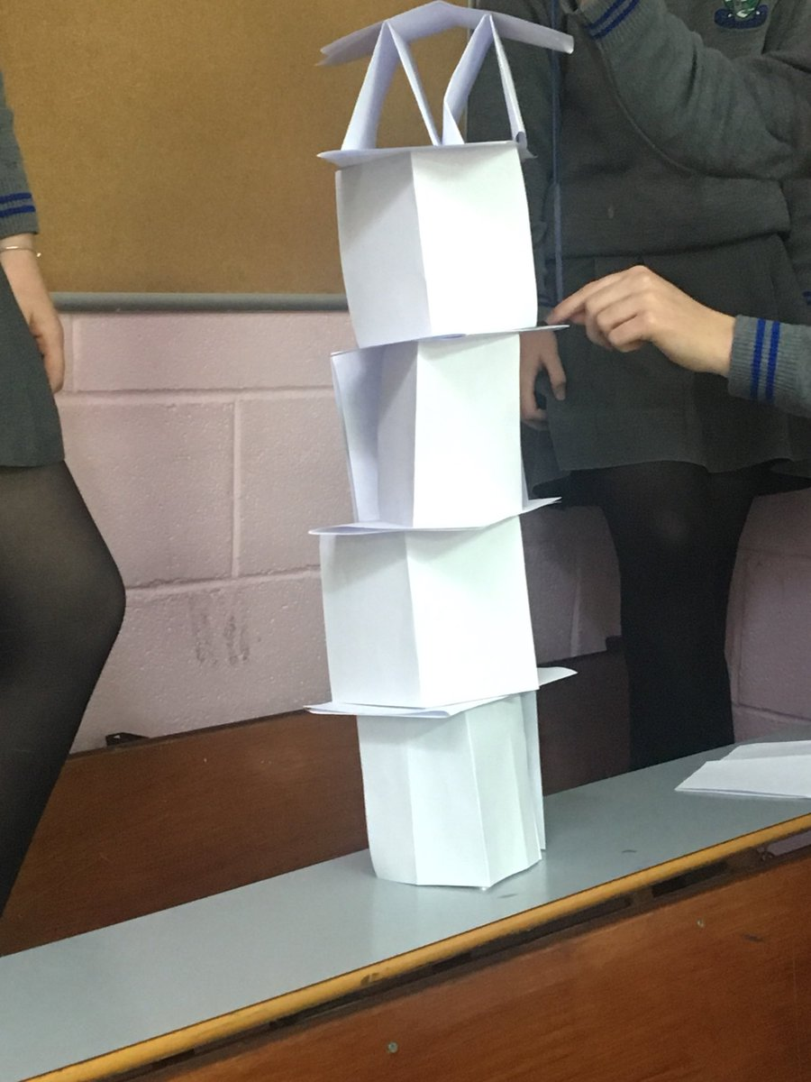 Cmj Science On Twitter Stem Challenge Ty Students Had To Carry Out The Paper Tower Challenge 20 A4 Pages 3 Points For Every Cm Built Bonus Points For Creativity Https T Co W4eheo6se8