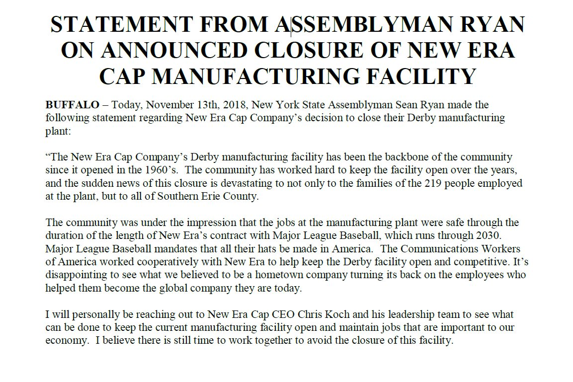 Assemblyman Sean Ryan on Twitter: