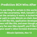 """Image for the Tweet beginning: """"My prediction is BCH will"""