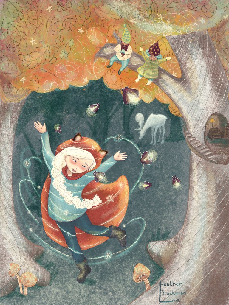 #folktaleweek2018 day 2 is #magic and this is also the piece my #gnomevember came from last week :) #amdrawing #kidlitart #illustration #folktaleweek<br>http://pic.twitter.com/FWqh0BJcqA