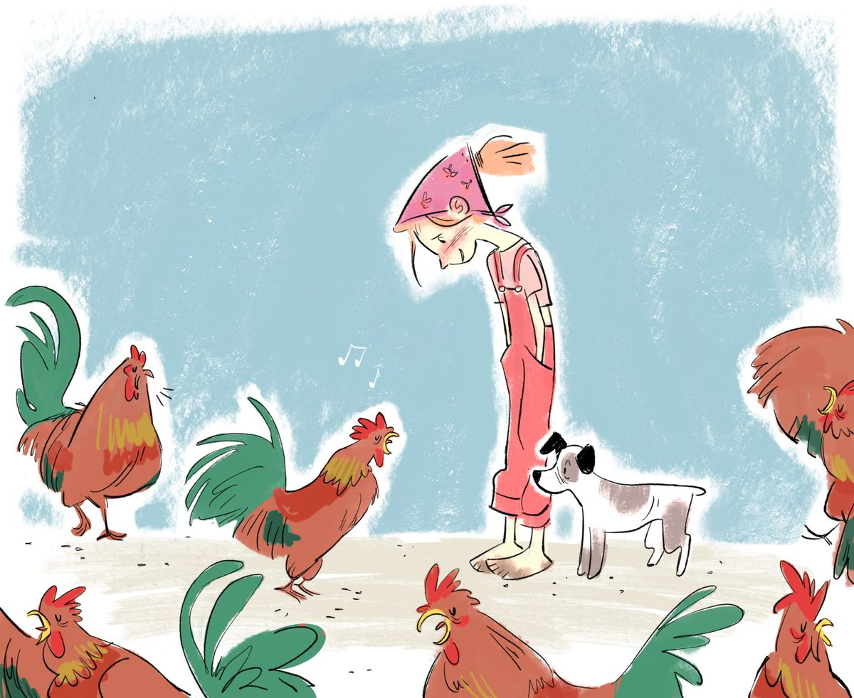 The Roarin&#39; Rooster Parade! Praciticing my #kidlit style..... #kidlitart <br>http://pic.twitter.com/sS4U0FiCNp