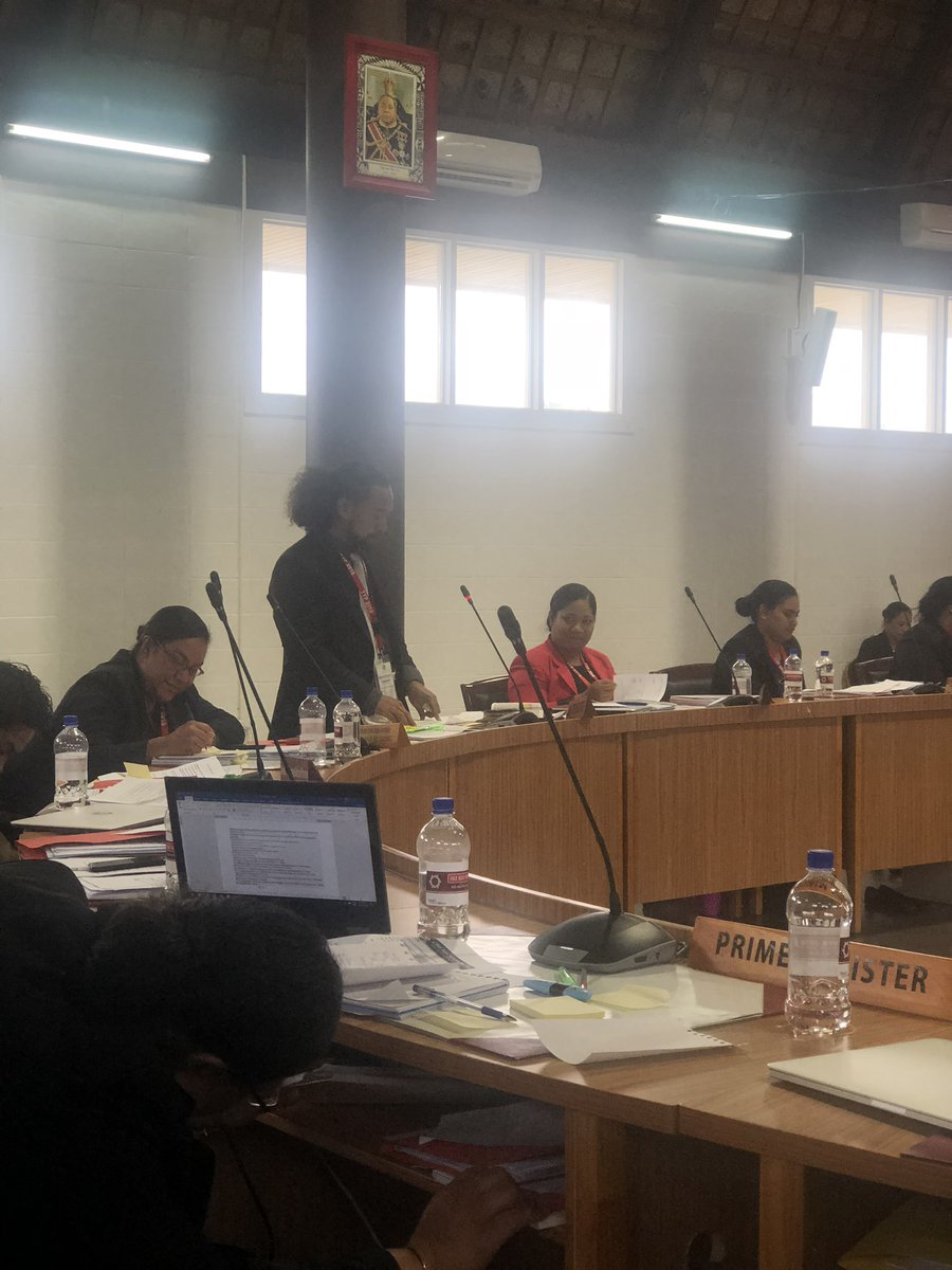 Hon.Hamani, Minister of Law - presenting Motion 2 create #Youth Advisory Committee to Parliament, chaired by Parliaments youngest member of Parliament,this case Lord Speaker, Fakafanua. @TongaYouth have been pushing for this and we are excited to have #TYP2018 in support! POUPOU!