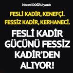 Fessiz Kadirler Twitter Photo
