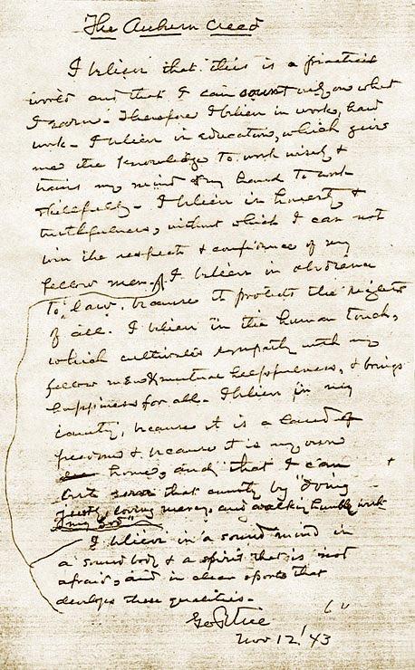 #OTD 75 years ago, George Petrie wrote the Auburn Creed💙🧡  #BeTheCreed75 #WarEagle https://t.co/nNfjtoHNIb