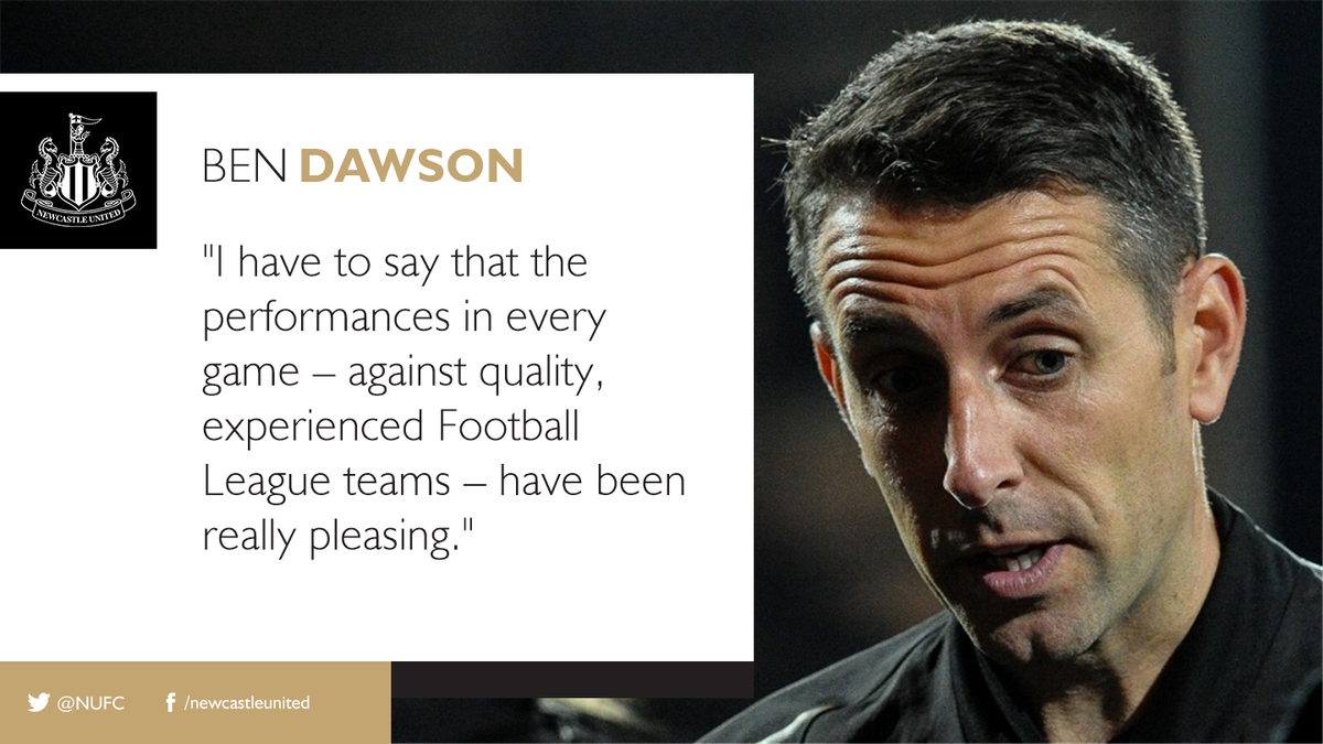 BEN DAWSON feels that the Checkatrade Trophy is bringing the best out of #NUFC's youngsters after the Magpies sealed their progression to the Second Round of the competition with a 3-2 victory over @officialgtfc. 👉🏽 nufc.co.uk/news/latest-ne…