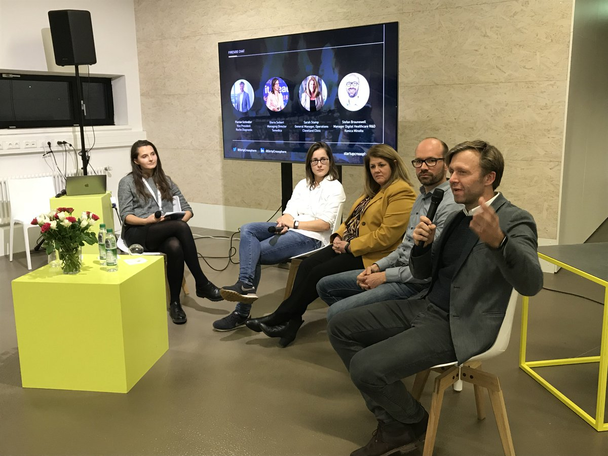 This panel on corporate collaboration was insightful and drove the discussion of #healthtechinnovation and how to #TransformHealthcareTogether - with @Roche, @ClevelandClinic, @temedica, @KonicaMinoltaEU, and @pnphealth https://t.co/c0ZlL7Et3z
