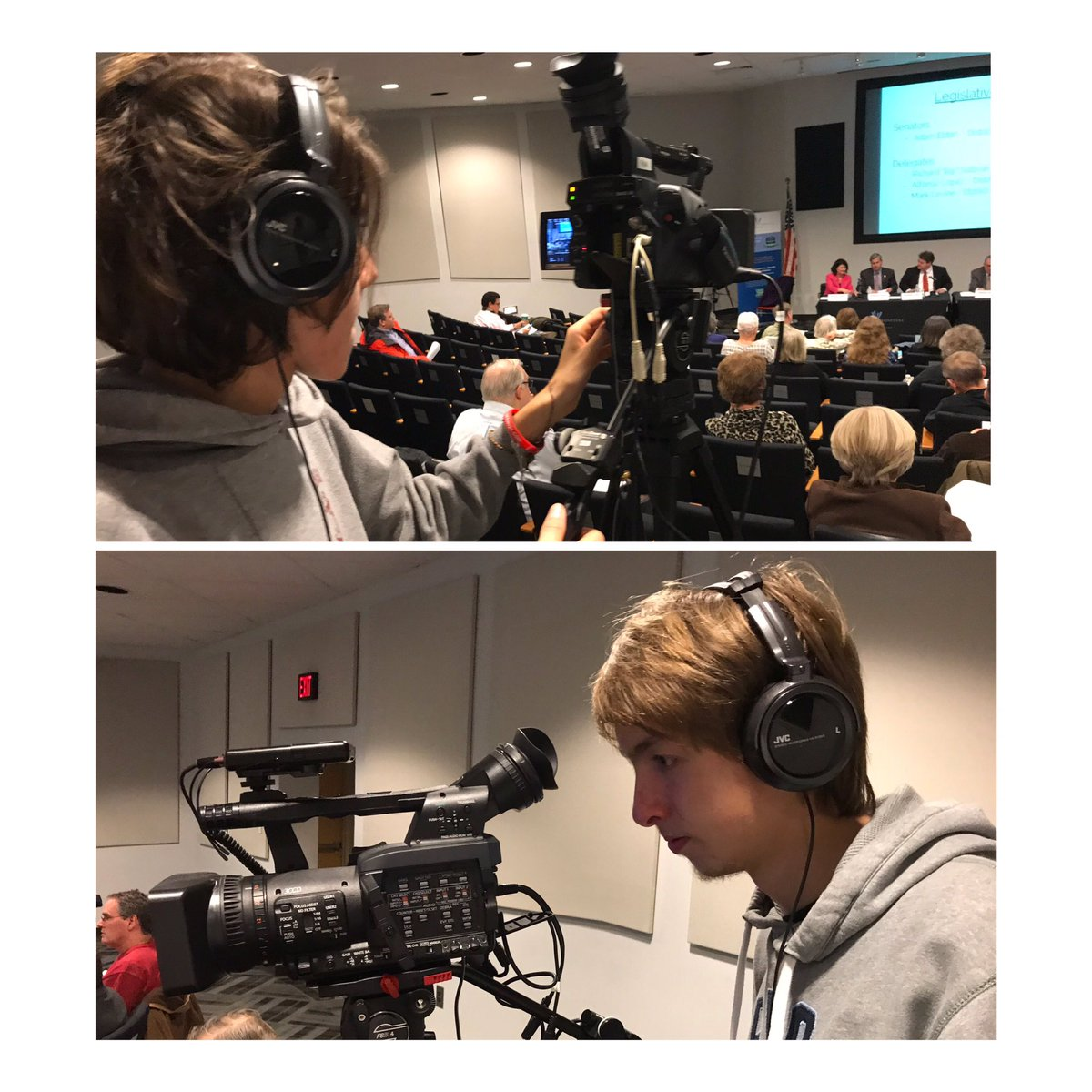 Arlington Tech TV Production students    Emilio and Seb are recording the ACCF monthly meeting at the Va. Hospital Center. <a target='_blank' href='http://twitter.com/arlingtontechcc'>@arlingtontechcc</a> <a target='_blank' href='http://twitter.com/CharlesRandolp3'>@CharlesRandolp3</a> <a target='_blank' href='http://twitter.com/Margaretchungcc'>@Margaretchungcc</a> <a target='_blank' href='https://t.co/6dYxePupyM'>https://t.co/6dYxePupyM</a>
