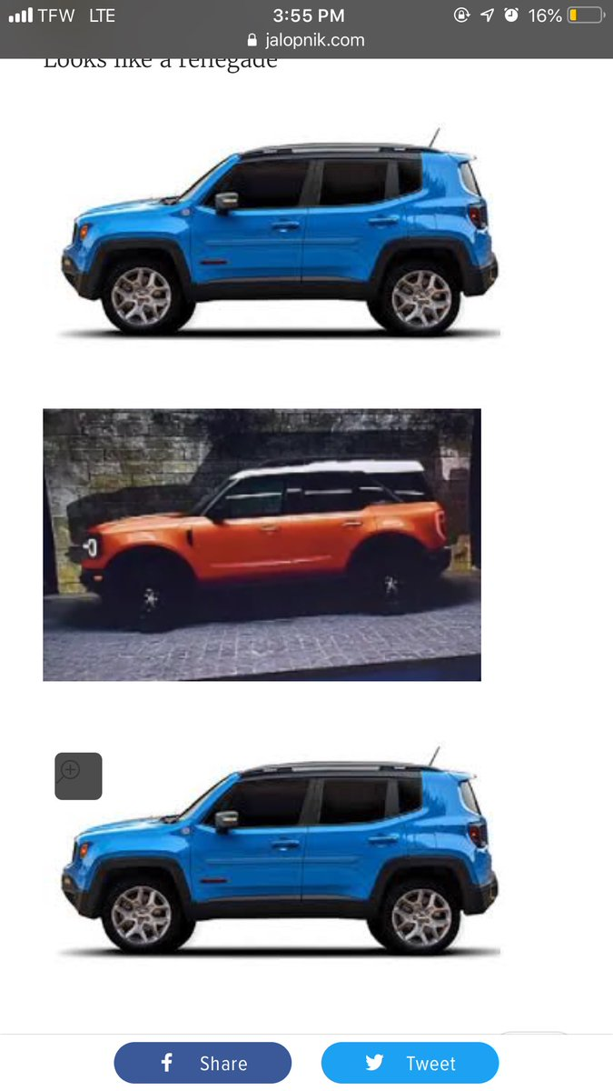 Jalopnik On Twitter Leaked 2020 Ford Baby Bronco Photos Tease What