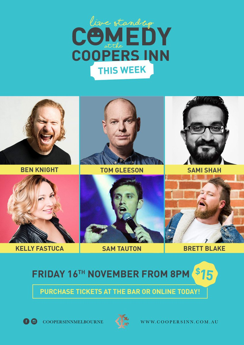 Friday Nov 16. TOM GLEESON and awesome local and interstate guests. Only $15 Prebook asap! http://www.trybooking.com/WDYM