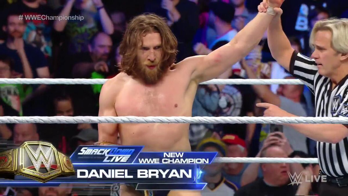 .@WWEDanielBryan is your NEW @WWE champion and will face @BrockLesnar at #SurvivorSeries 😱 #SDLive