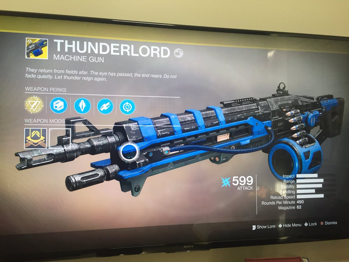 My baby came back to me. 😭😃  #Thunderlord #Destiny2 #ImComplete #DestinyTheGame @destinythegame
