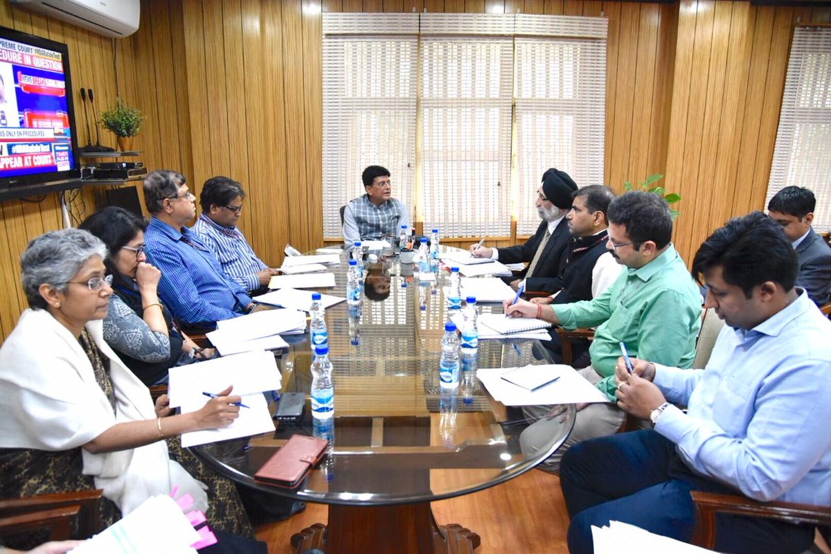 Reviewed Coal Production with officials from the @CoalMinistry as part of daily monitoring of performance & production. I am glad to share that despite the ongoing Chhath Puja, Coal Production remains robust & would like to thank the  team fo@CoalIndia1r their efforts.