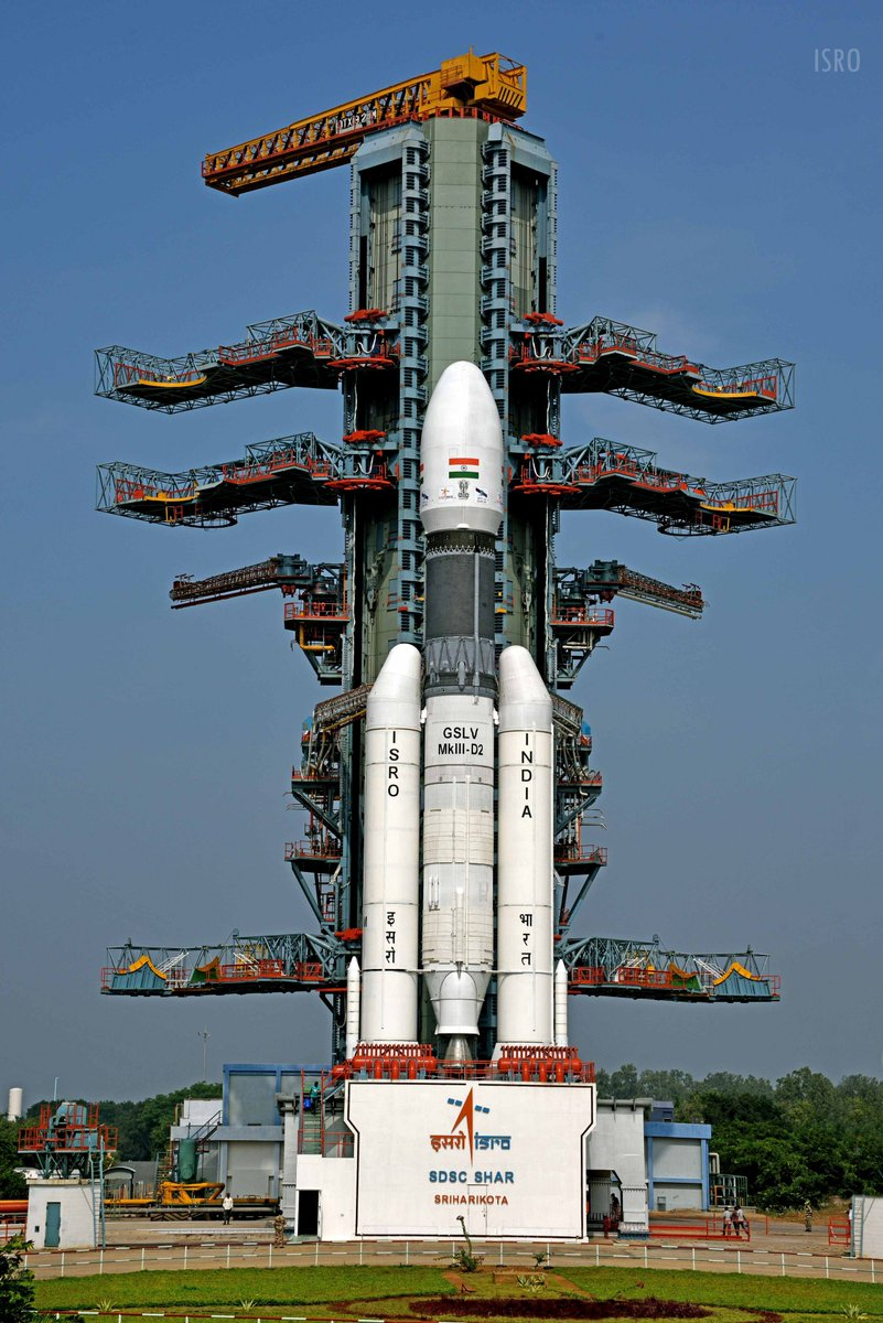 Update #4#ISROMissionsThe filling of fuel (UH25) and oxidiser (N2O4) in L110 stage has been completed for today's 17:08 (IST) launch of #GSLVMkIIID2 carrying #GSAT29 from SDSC SHAR Sriharikota. Watch this space for all updates.@PMOIndia