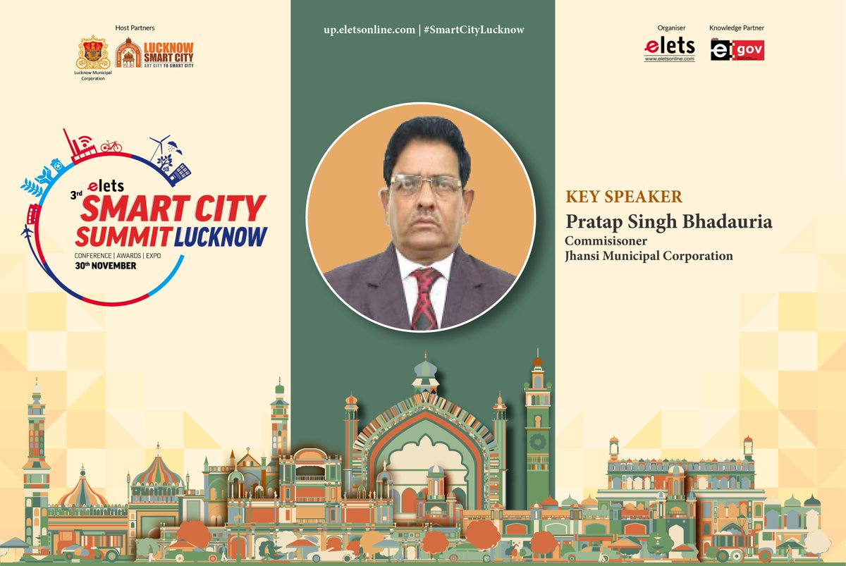 test Twitter Media - We welcome Pratap Singh Bhadauria, Commissioner, @SmartCityJhansi as a key speaker at #smartcitylucknow to be held on Nov 30.  For more info visit: https://t.co/rHaOMH2X29 @ArpitKGupta @LkoSmartCity https://t.co/U452FAIqHI