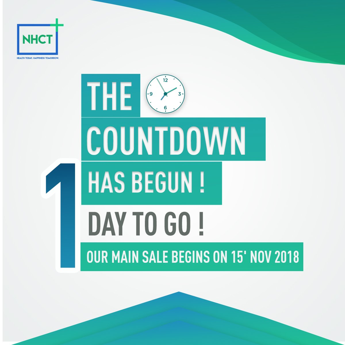 The day you have waited for is finally here. Our main sale begins on 15&#39;Nov 2018. Just 1 more day to go!  #healthcare #blockchain #technology #data #innovation #NHCT #ethereum #MainSale<br>http://pic.twitter.com/OY4QTLUGIY