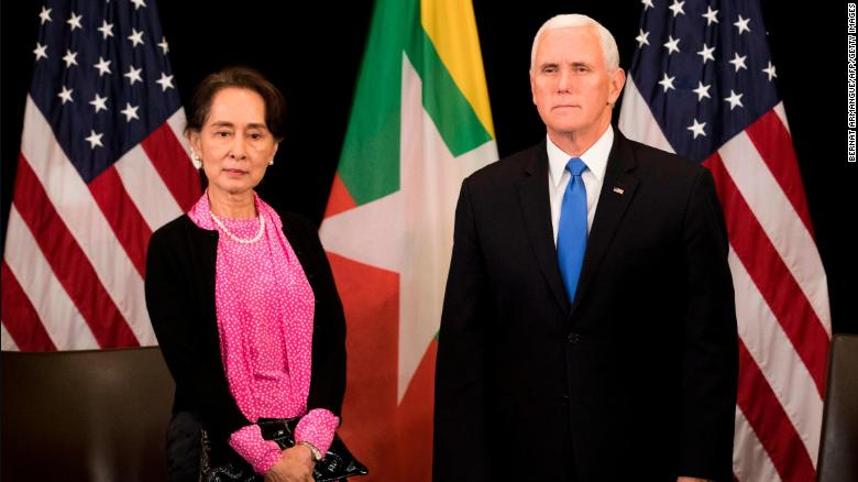 US Vice President Mike Pence tells Myanmar's civilian leader Aung San Suu Kyi that the treatment of the country's stateless Rohingya Muslim people is inexcusable https://t.co/m9LorVxVcL