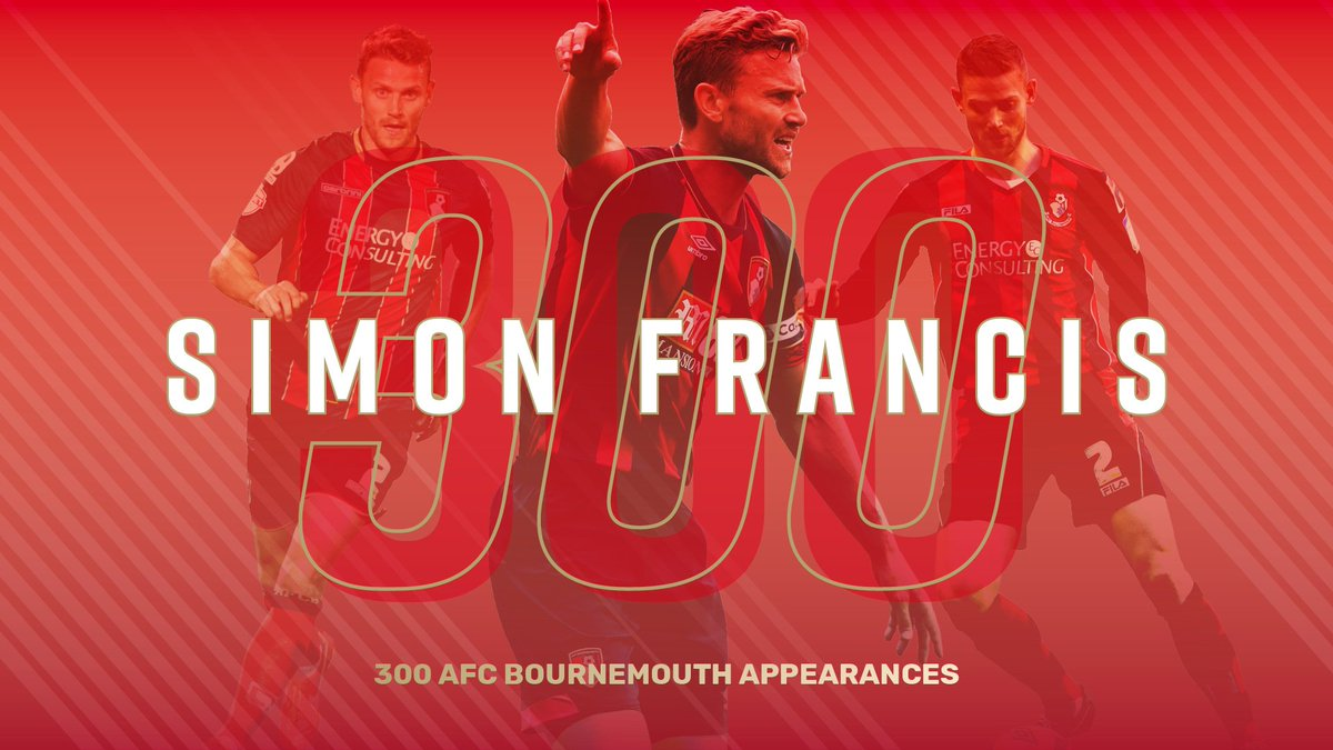 A significant milestone for our skipper at the weekend... 👏 Congratulations on 300 #afcb appearances, Franno!