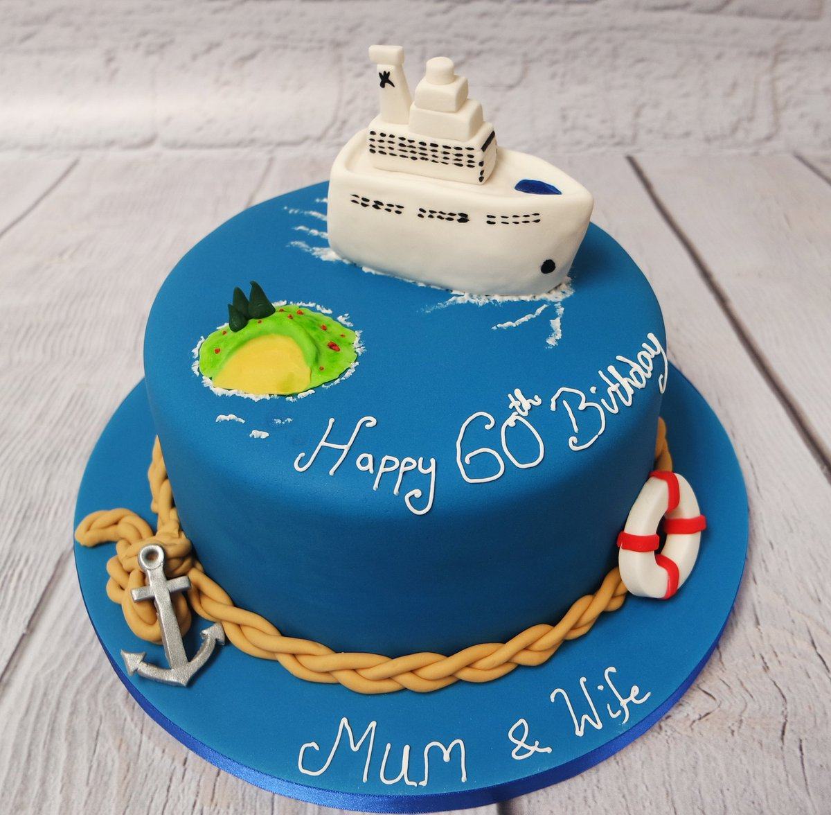 Excellent Crafty Cakes On Twitter All Aboard A Cruise Ship Themed Cake Funny Birthday Cards Online Necthendildamsfinfo