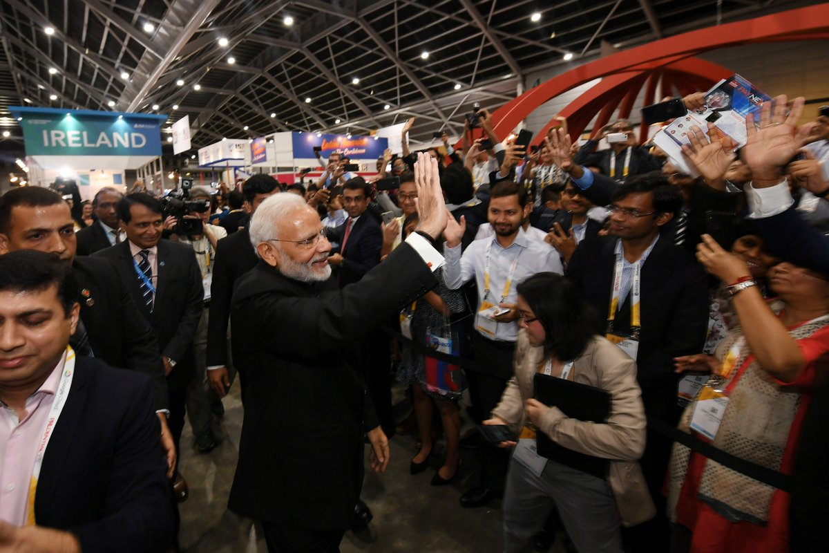 Glimpses from the Singapore Fintech Festival, including the visit to the India Pavilion.