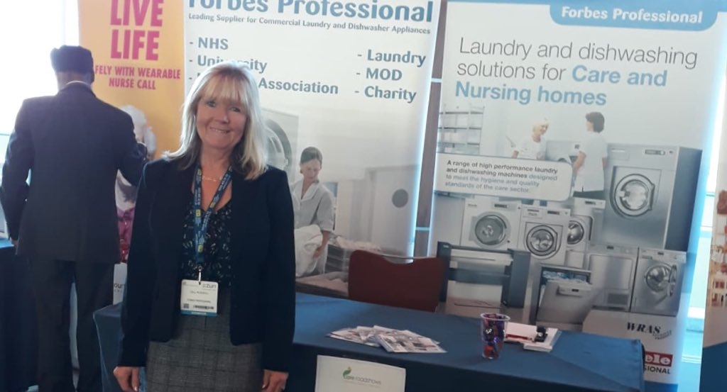 Good to talk to #carehomes @careroadshows in Epsom yesterday. We provide WRAS and CQC compliant commercial #laundry solutions to the #care sector.