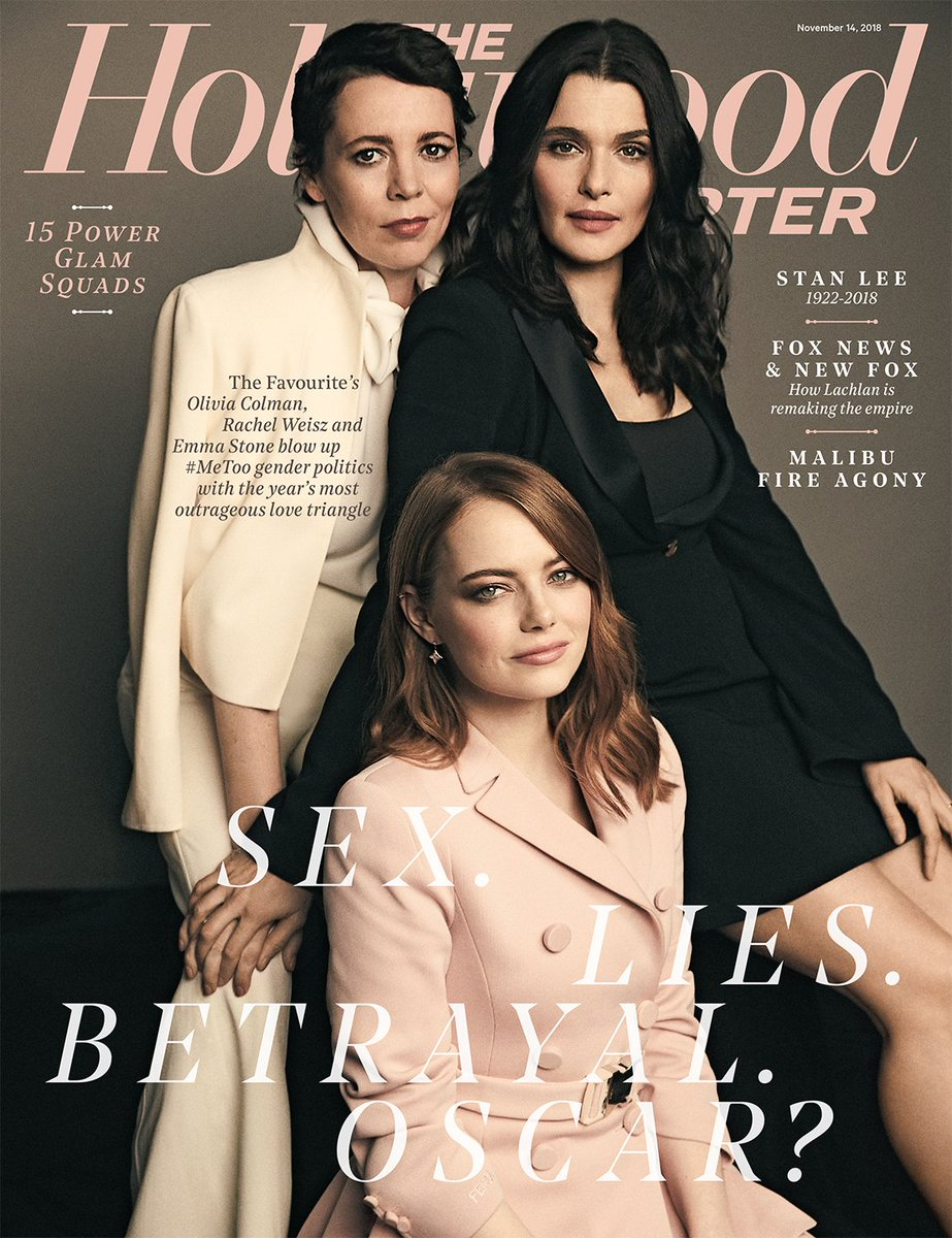 THR cover: #TheFavourite blows up gender politics with the year's most outrageous love triangle https://t.co/ornxauYUEq