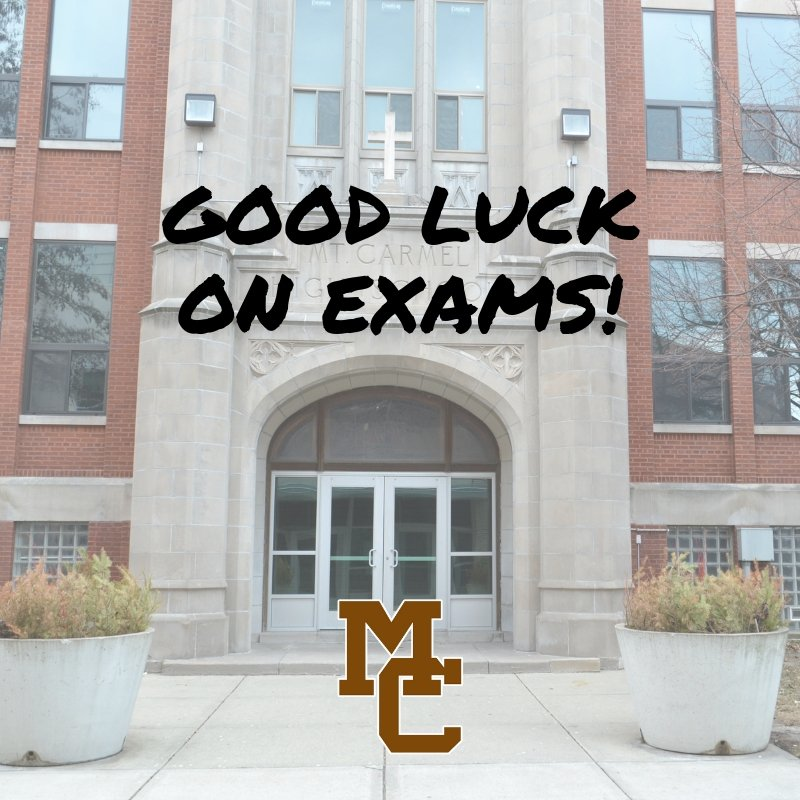 As our students begin their final exams this week, we would like to wish them good luck! Finish strong 💪 #WeAreMC