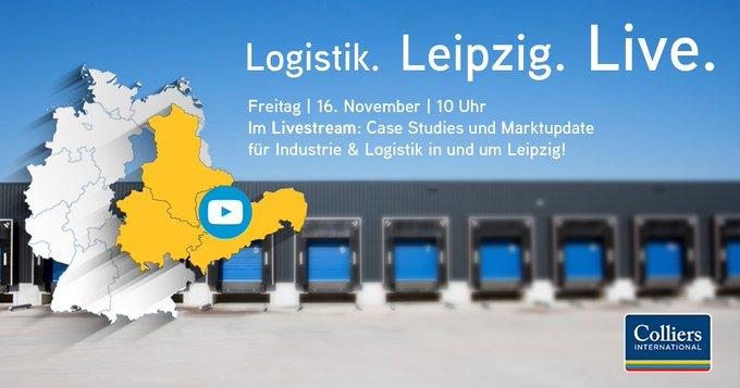 Save the Date - am Freitag um 10 Uhr streamen wir die Leipziger #logistics -Talks live aus unserem Büro! Themenschwerpunkte: Baytree-Projektentwicklung, Logistik-#startup Pamyra & Trends des Industrie- und Logistikmarktes #Leipzig/Halle:  #Livestream t.co/Fk4Kl33rAx