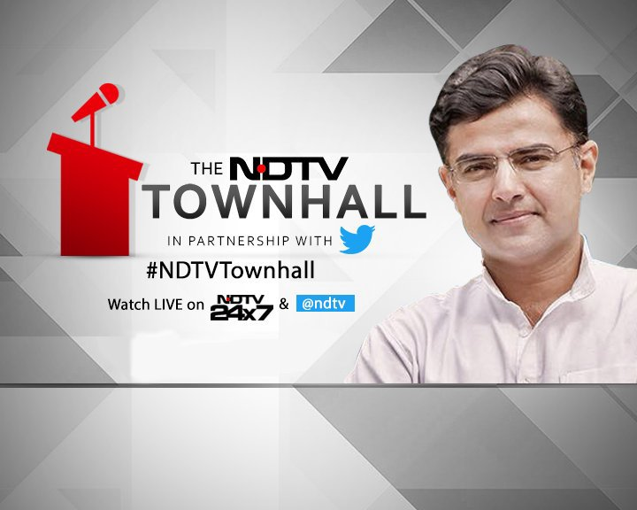To join the debate, tweet us your questions wit #NDTVTownhallh  and we'll take them live on air.  Watch LIVE now on NDTV 24x7 a @ndtvnd @SachinPilot @TwitterIndia