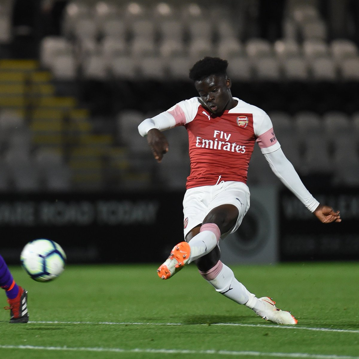 A dream @England Under-19s debut for Bukayo Saka ✨  ⏱ 82' comes off the bench ⏱ 85' scores England's third  In form for club and country 🔥