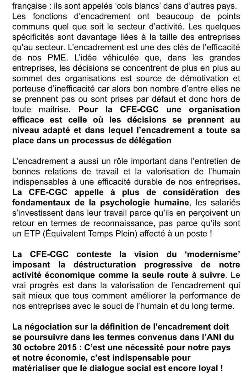 Cfe Cgc On Twitter Definition Encadrement La Cfe Cgc Rappelle