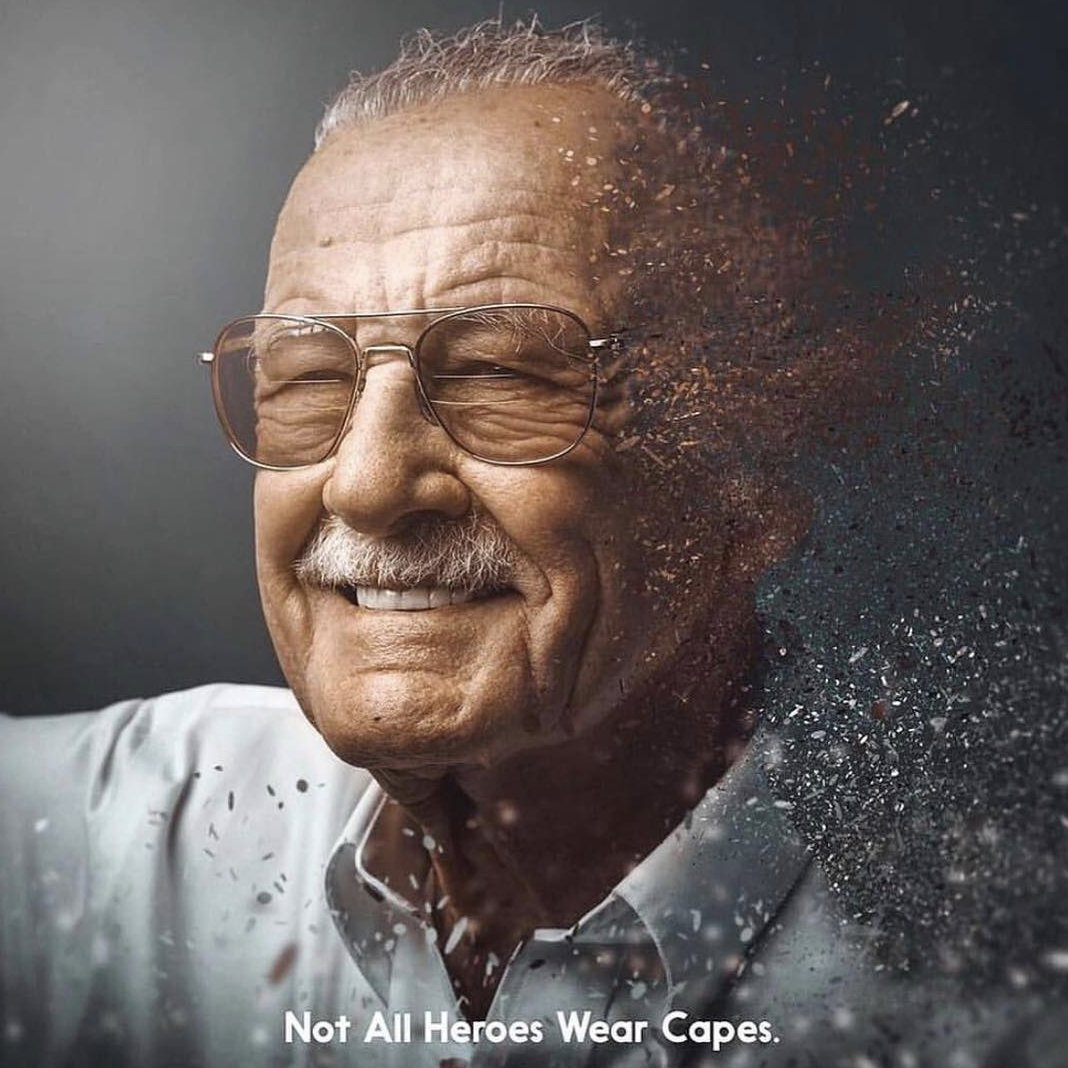 The late great Stan Lee. He made his dreams a reality. So grateful for the amazing work he did, for all the amazing stories that are still being told today. Rest in peace. #icon #hero