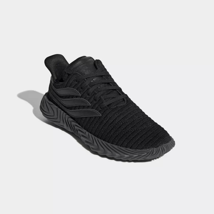 Adidas Sobakov in Black   White Streetwear shoes the capture the fervor of  soccer fandom. Available TODAY at The Athlete s Foot stores! 4ecb7476c