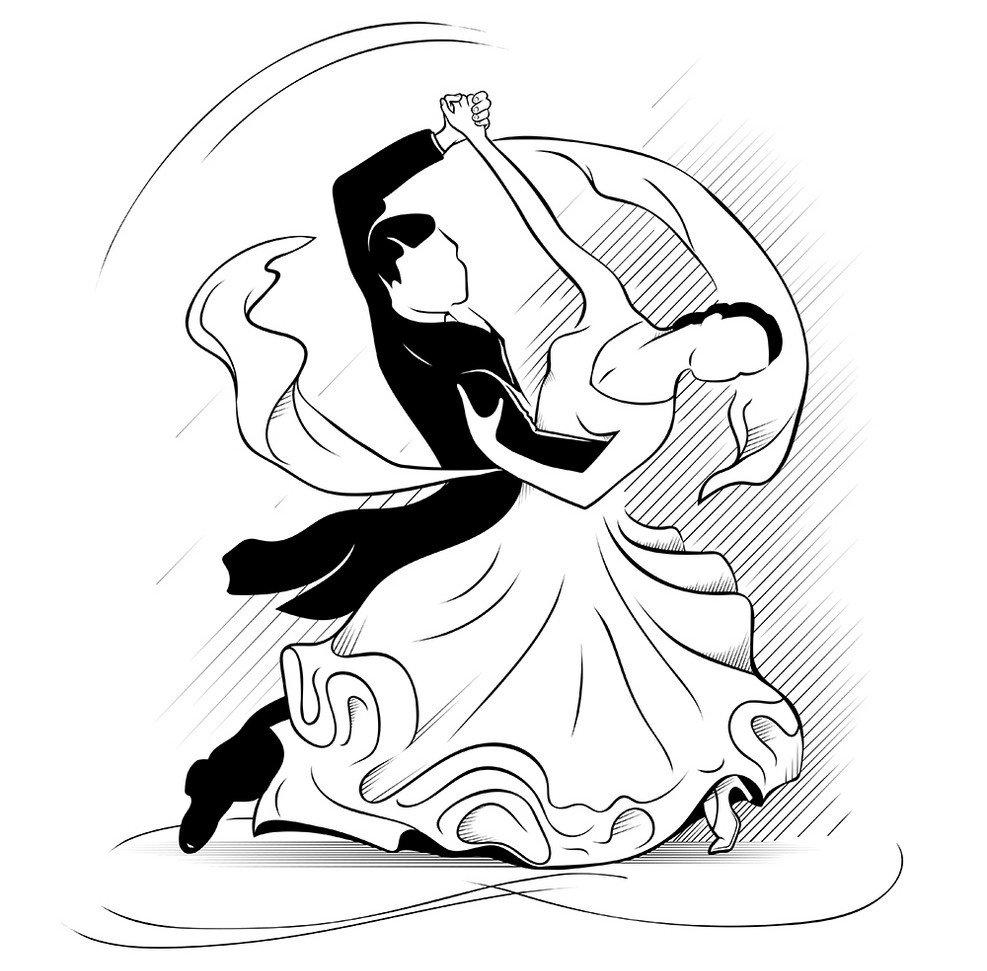 правило картинки бальных танцев карандашом приняла эффектную